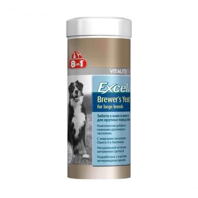 Витамины, пищ. добавки : Эксель пивные дрожжи для собак крупных пород, 80 таб